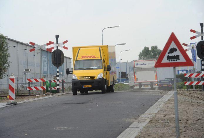 De doorsteek tussen de bedrijventerreinen De Poel II en III in Goes.