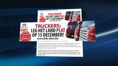 """""""Truckers, leg land plat op 15 december"""""""