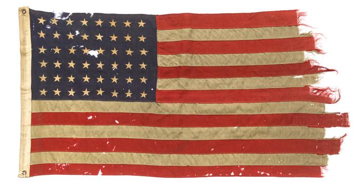 De Amerikaanse D-Day vlag is dinsdag gratis te bekijken in de Kunsthal.
