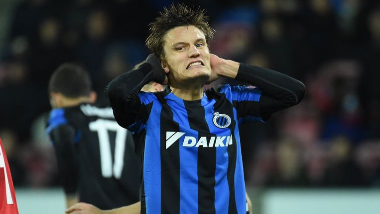 De 1-1 van Jelle Vossen zorgde even voor hoop, maar verder geraakte Club in Denemarken niet. Over en out in de Europa League.