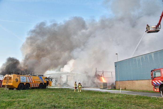 Ravage na brand Industrieterrein Kraaiven Tilburg.