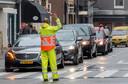 Een verkeersregelaar aan het werk (foto ter illustratie)