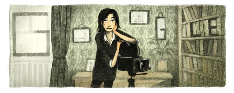 De Google Doodle van Chantal Akerman.