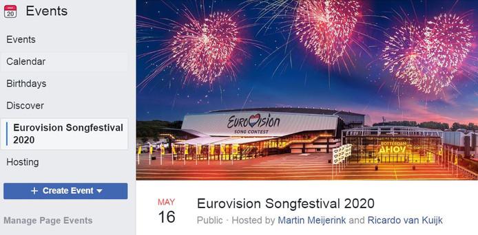 Het Facebook-event.