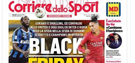 Italiaanse sportkrant in opspraak met 'Black Friday'-cover