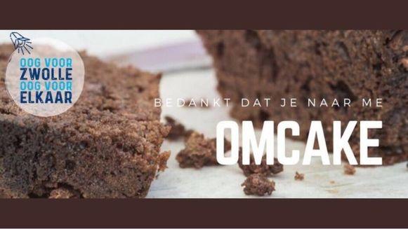 De slogan van de ChristenUnie in Zwolle: 'Bedankt dat je naar me omcake'.