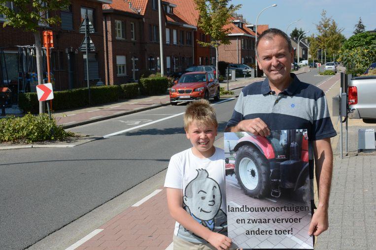 Pieter De Laet van het actiecomité Red de Straat vraagt een alternatieve route voor landbouwvoertuigen en zwaar vervoer.