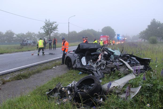 Lieselot M. veroorzaakte een fatale botsing in 2016.  Van de wagen waar het slachtoffer inzat bleef niet veel over.