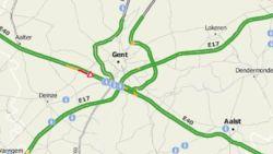 Zwaar ongeval in Drongen: E40  volledig dicht richting Brussel