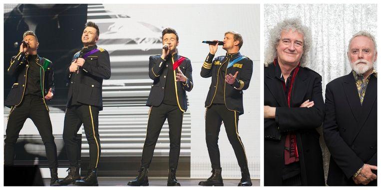Westlife wil enorm graag samenwerken met Brian May en Roger Taylor, de nog overblijvende leden van Queen