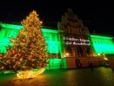 Stadhuis kleurt groen voor de afschaffing van de doodstraf in de wereld