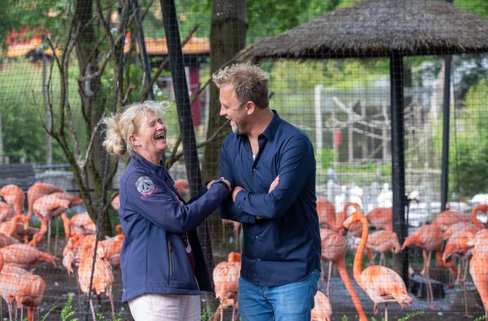 José Kok van Ouwehands Dierenpark en Edwin Mast van I Care Producties.