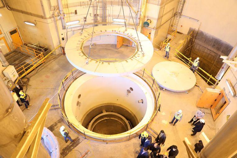 Nucleaire water reactor in Arak, in centraal Iran.