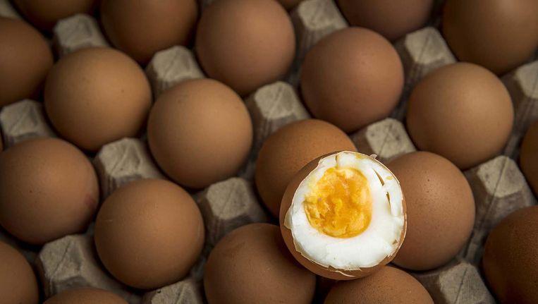 Aldi koopt alleen nog eieren in met een bewijs van een laboratorium dat ze geen sporen van het luizenbestrijdingsmiddel fipronil bevatten. Beeld anp