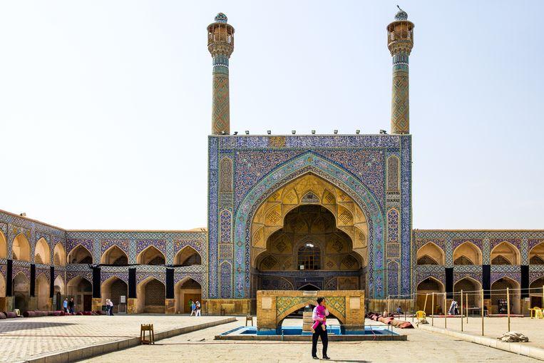De Blauwe Moskee in Isfahan Beeld Getty