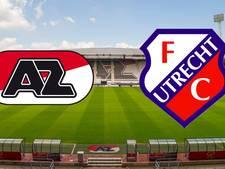 LIVE: Subtoppers AZ en FC Utrecht op jacht naar top vijf