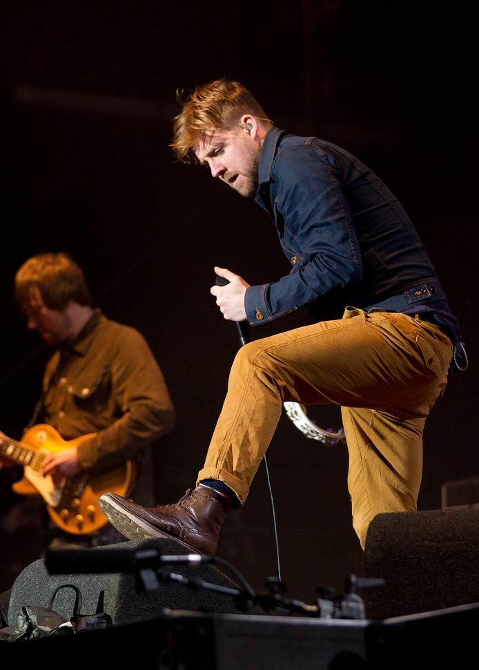 Zanger Ricky Wilson tijdens de Zwarte Cross in 2012. De band keert in 2018 weer terug in Lichtenvoorde.