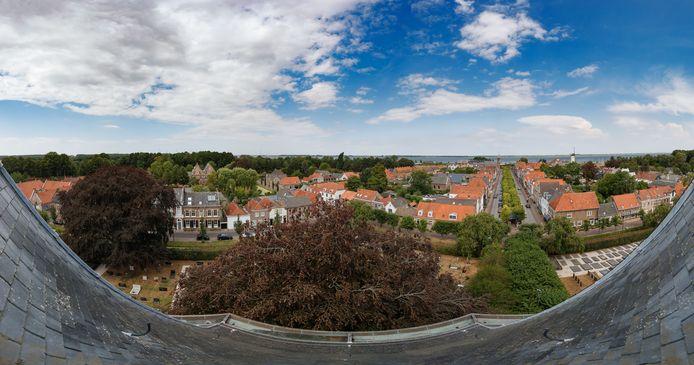 Uitzicht op Willemstad vanaf de Koepelkerk.
