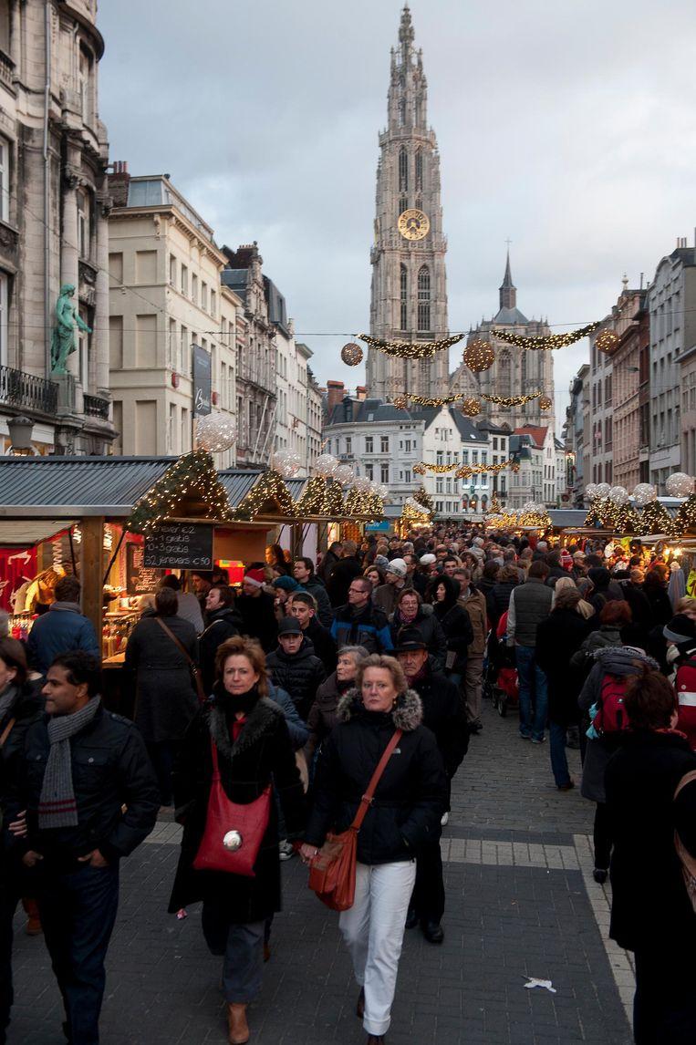 De kerstmarkt anno 2011, op en top gezelligheid.