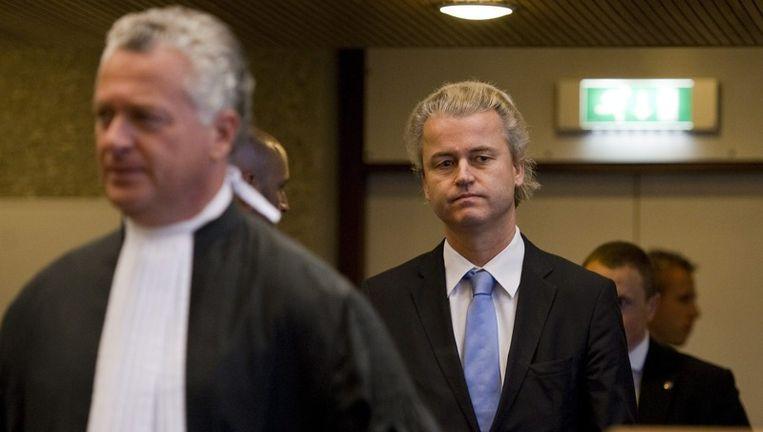 Bram Moszkowicz en Geert Wilders. Beeld null