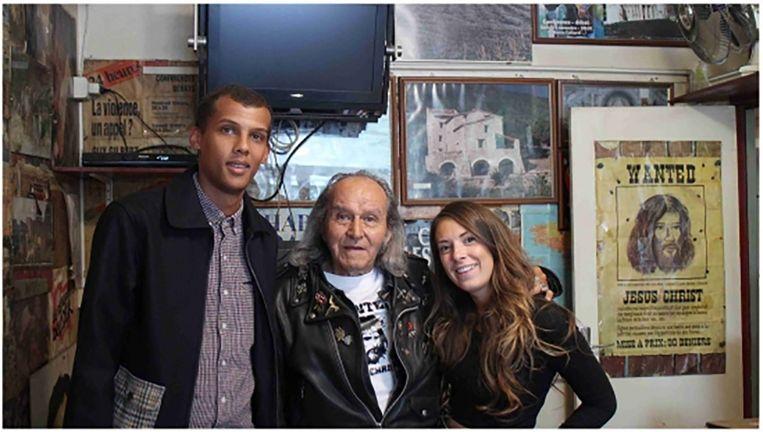 Stromae, Guy Gilbert en Coralie.