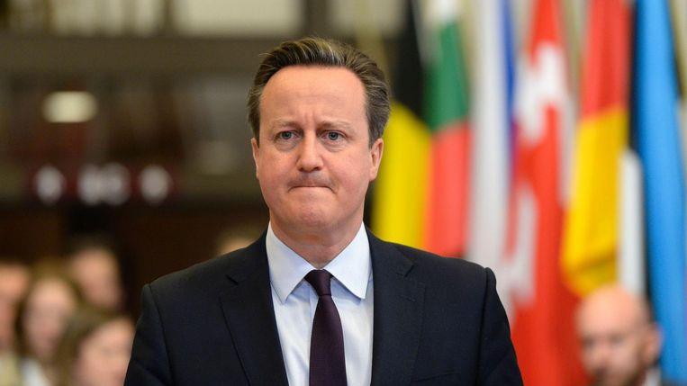 De Britse premier Cameron. Beeld afp
