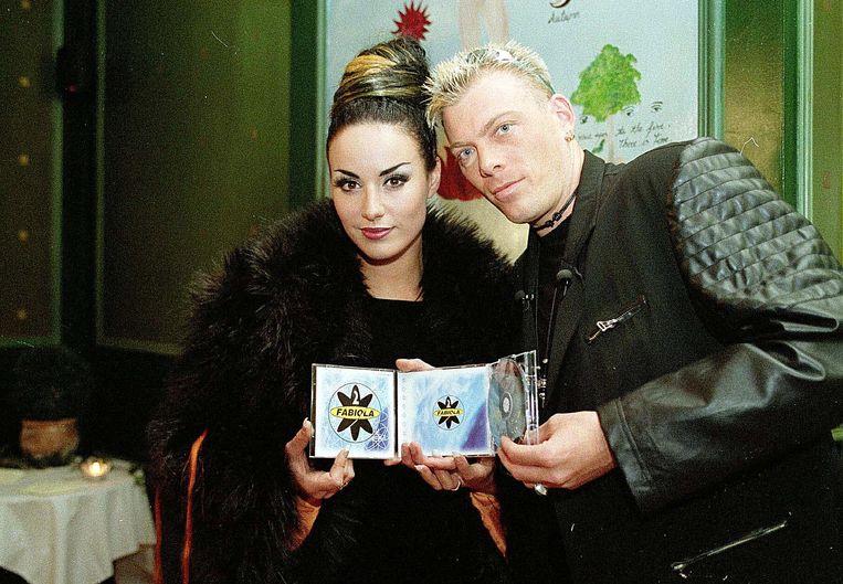 Zohra en Pat Krimson in 98 bij de albumvoorstelling van 'Androgyne'.