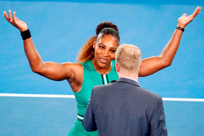 Serena Williams na haar overwinning op Eugenie Bouchard.