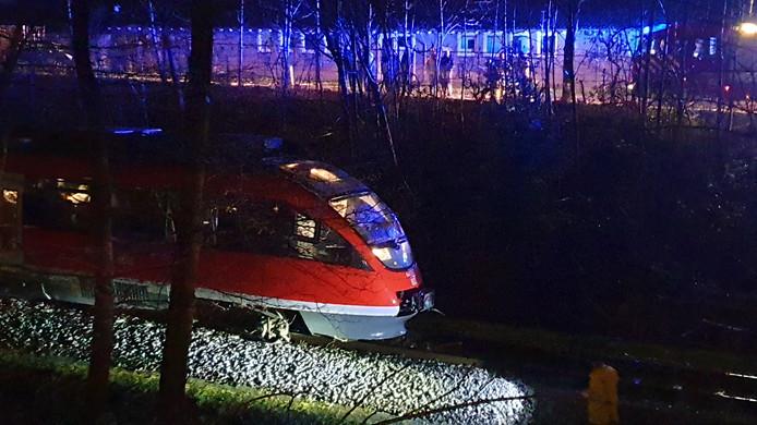 De trein ontspoorde tussen Enschede en Gronau.