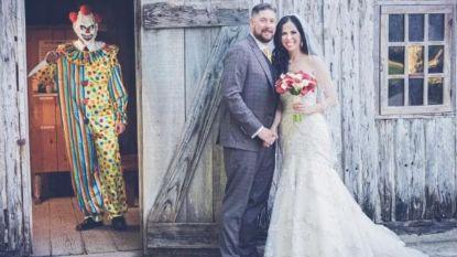 Man laat echtgenote na één jaar huwelijk schrikken met angstaanjagende trouwfoto