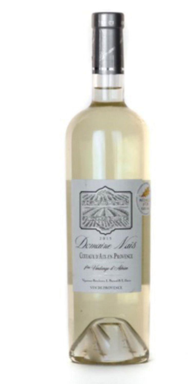 De wijn: Domaine Naïs 2019 Coteaux d'Aix-en-Provence, Frankrijk, €8,50 (wit) Wijnhandel Slijterij Topido, Bellamystraat 14  topido.com Beeld