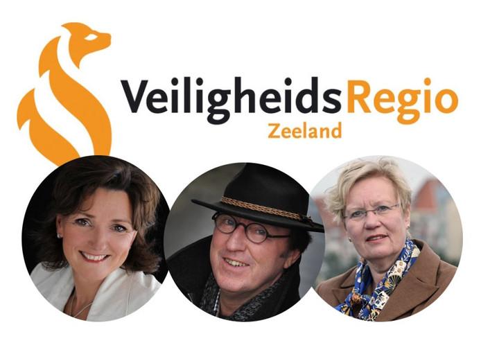 V.l.n.r.: Gerrie Ruijs (oud-directeur VRZ), Jan Lonink (voorzitter dagelijks bestuur VRZ) en Letty Demmers (oud-burgemeester Vlissingen)