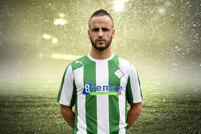Omar Kavak scoorde drie keer voor Genemuiden. Foto: Helmich Lubberts