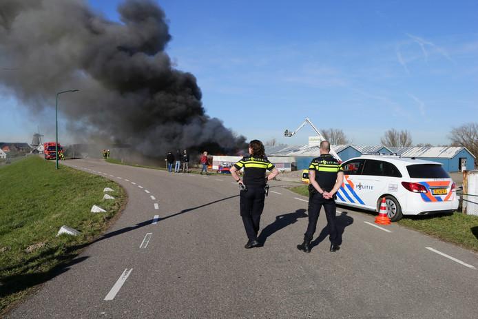 De brand brak maandagmiddag 25 februari uit in het kantoorgedeelte van het leegstaande Villaforte.