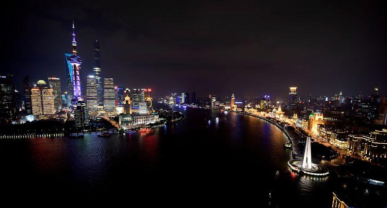 De skyline van Shanghai. Beeld belga