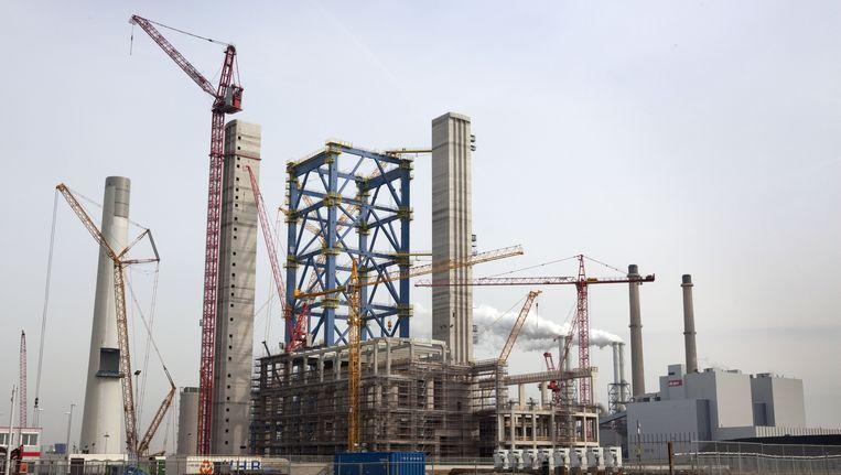 Kolencentrale in aanbouw op de Maasvlakte. Beeld ANP XTRA