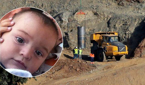 Archiefbeeld, de tweejarige peuter Julen viel op zondag 13 januari in een 110 meter diepe put.