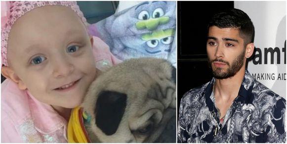 Zayn Malik doneerde 10.000 pond voor de behandeling van het zieke Britse meisje Caitlin.