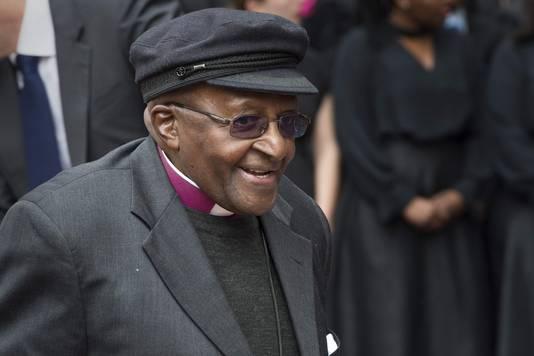 Gepensioneerd aartsbisschop Desmond Tutu.