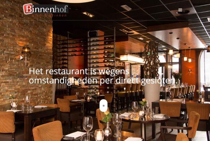Op de website staat te lezen dat het restaurant wegens omstandigheden per direct is gesloten