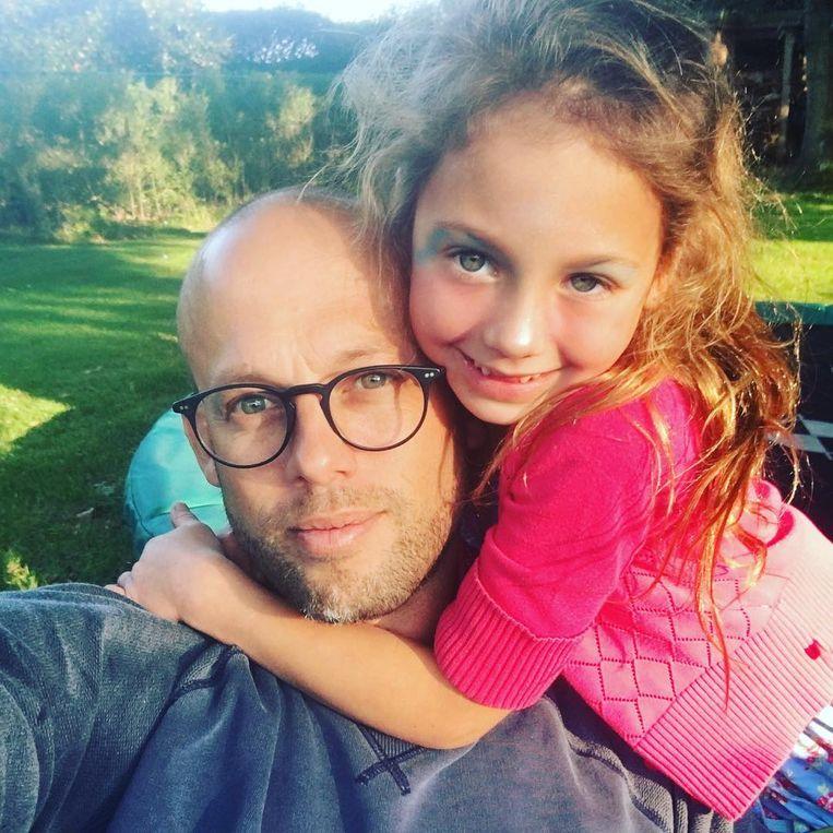 Staf Coppens en zijn dochter Nora.