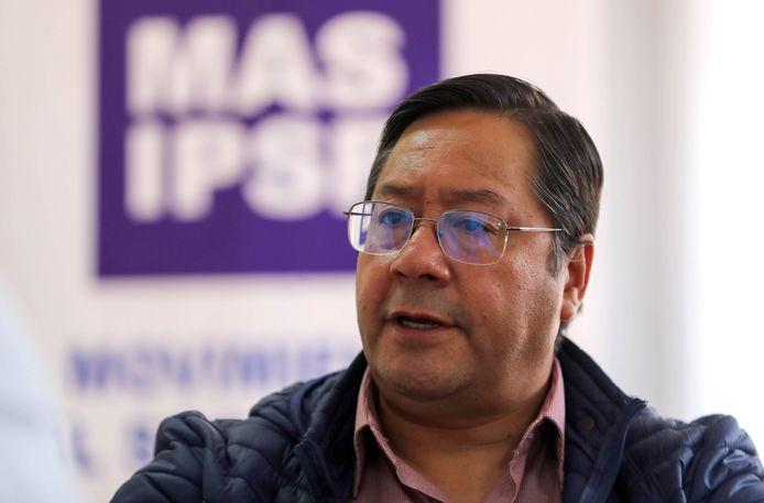 De nieuwe president van Bolivia, Luis Arce.