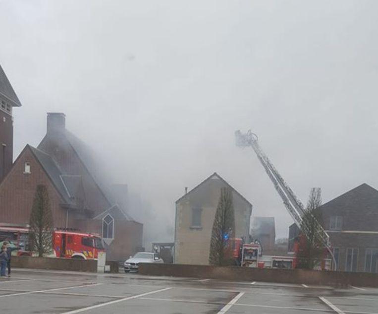 Er was heel wat rookontwikkeling bij de brand.