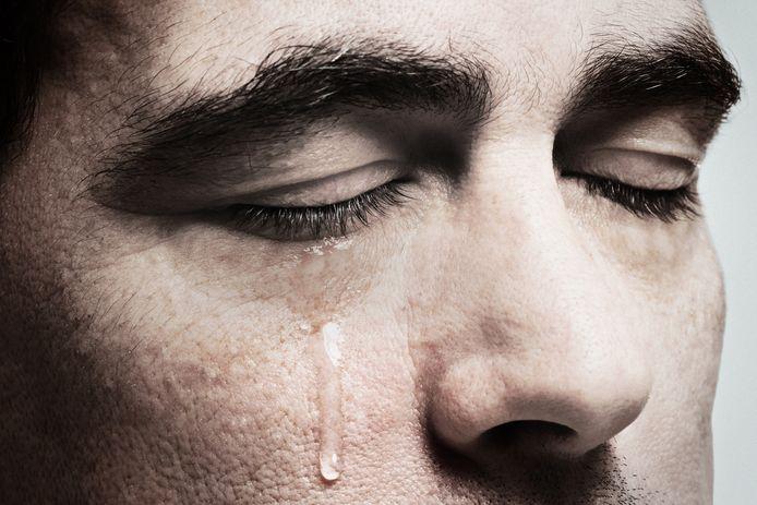 Foto ter illustratie. 'Huisman' Niek kan niet huilen, ook al zou hij dat soms wel willen.