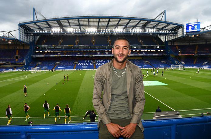 Hakim Ziyech op Stamford Bridge.