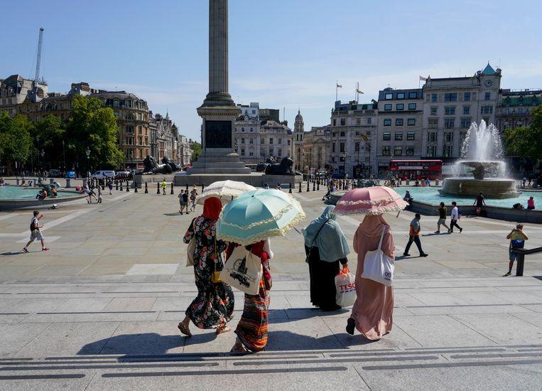 Trafalgar Square in Londen.