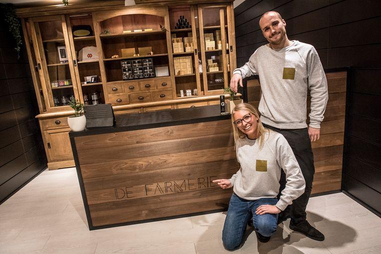 Florence Peel en Floris Verschuere hebben zopas De Farmerie geopend.