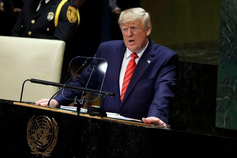 Trump tijdens zijn VN-toespraak