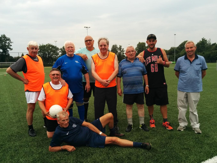Walking footballers.