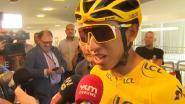 """Tourwinnaar Bernal in Aalst: """"Ik heb hoofdpijn, te veel bier..."""""""